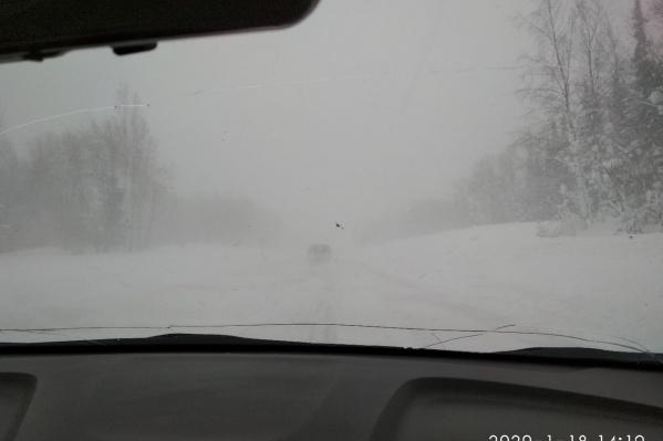 Так выглядят трассы сегодня в Новоселово