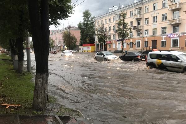 Такая река — на Ленина, в районе улицы Плеханова