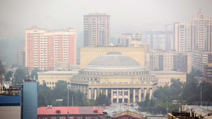 Дым пришёл с востока: лесные пожары снова испортили воздух в Новосибирске