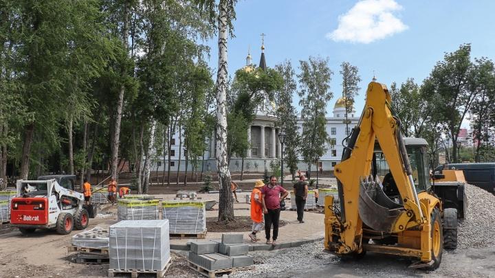 Три входа, освещение и лавочки: в Самаре обновят сквер у храма Кирилла и Мефодия