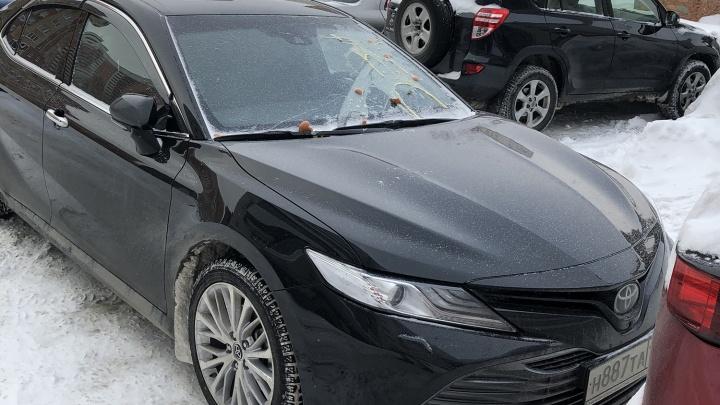 «Я паркуюсь как чудак»: новенькую «Тойоту Камри» забросали яйцами — смотрим за что