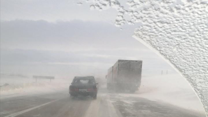 На российско-казахстанской границе в Челябинской области из-за непогоды ограничили движение
