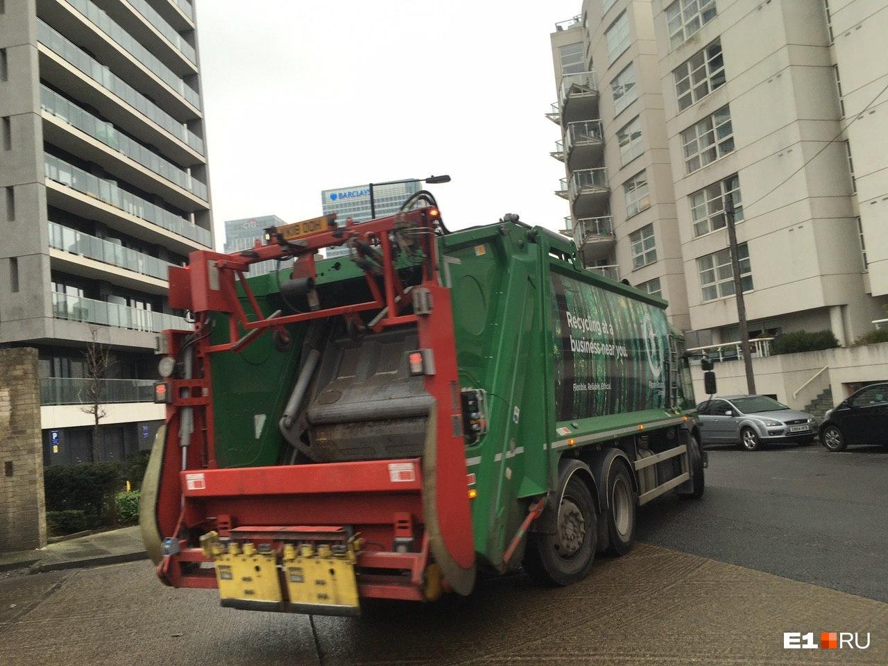 Небольшая мусоросортировочная станция на Canary Wharf