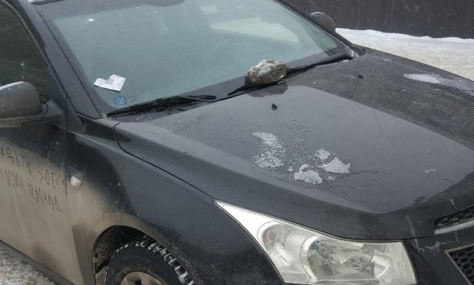 «Я паркуюсь как чудак»: камнем по стеклу