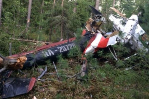 Вертолет разбился 22 июня в семи километрах от Лангепаса