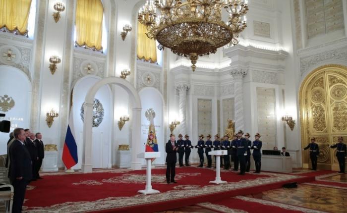 На вручении госпремий в Кремле 12 июня 2017 года