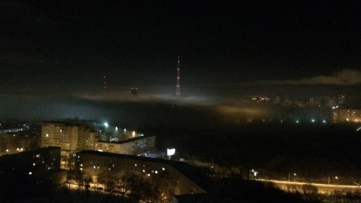 Туман? Облако? Дымка? Смог? Что это было? Фотоподборка ночного явления в Перми