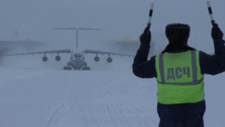 В Новосибирске сел самолет с военными-зенитчиками из Сирии