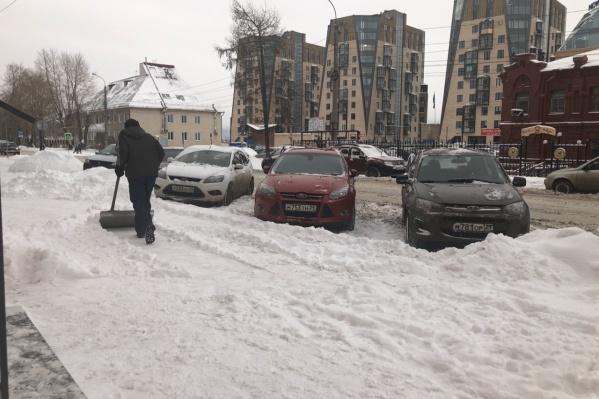 Календарная зима ещё не началась, но Архангельск уже «одет» по-зимнему