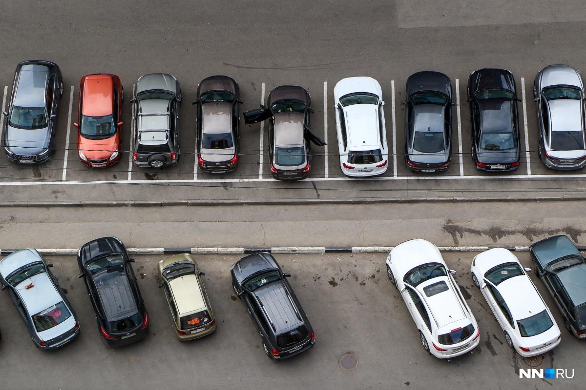 Нижнему Новгороду сильно не хватает парковочных мест
