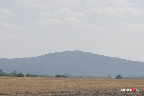 Вот так выглядит гора Зирган в Ишимбайском районе республики под Стерлитамаком
