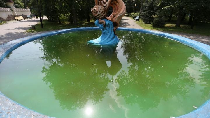 «Меняем воду каждую неделю»: в челябинском горсаду «зацвели» фонтаны