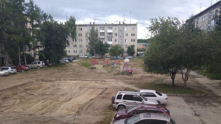 В Кудряшовском снесли детскую площадку. Она была единственной на весь поселок