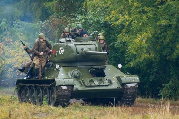 Танк Т-34 - главный реквизит исторических реконструкций