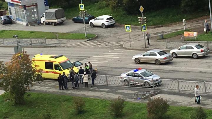 На Готвальда сбили ребенка, которыйехал на велосипеде по пешеходному переходу