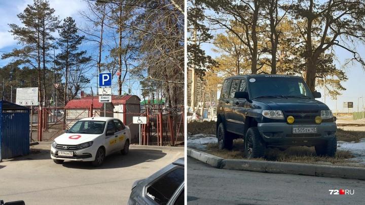 «Я паркуюсь, как...»: автохамы у «зебры» на Самарцева, таксист-«инвалид» и стоянка на газонах