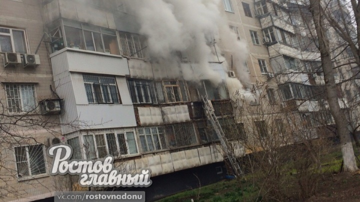 При пожаре на Королева в Ростове пострадали два человека