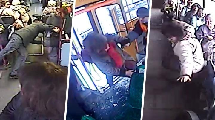 Билет до больницы: видео впечатляющих падений пассажиров в трамваях и автобусах Екатеринбурга