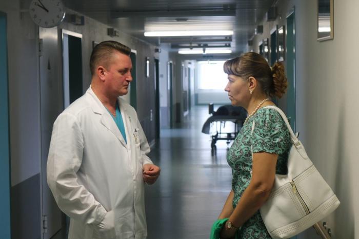 Татьяна Родионова с врачом-нейрохирургом Владимиром Климовым