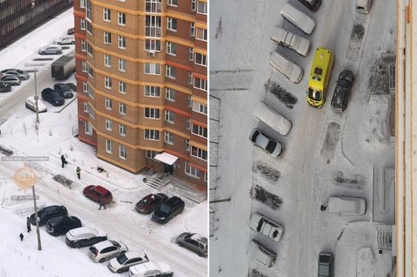 Женщина упала с 6-го этажа дома