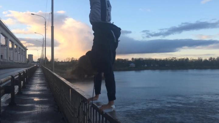 Ярославский Тарзан показал, как нужно тренироваться, записав опасный ролик