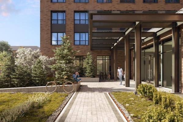 Дом бизнес-класса на Первомайской, 60 с английским садом и сквером станет знаковым объектом в тихом центре города