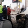 Пострадала пассажирка: в Челябинске водитель маршрутки протаранил иномарку на светофоре