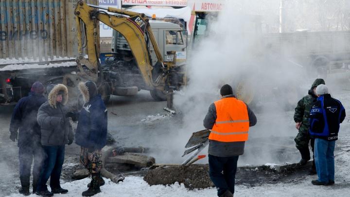 «Отопление дали, горячей воды нет»: аварию в Ленинском районе обещают устранить к вечеру