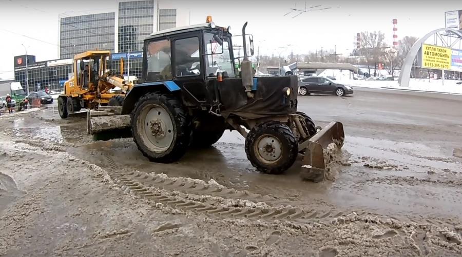 Площадь Труда вНовосибирске залило водой из-за трагедии