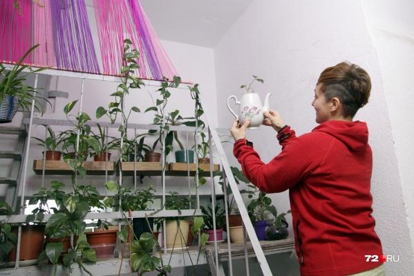 Первые горшки с цветами появились в подъезде дома на Московском тракте около двух лет назад