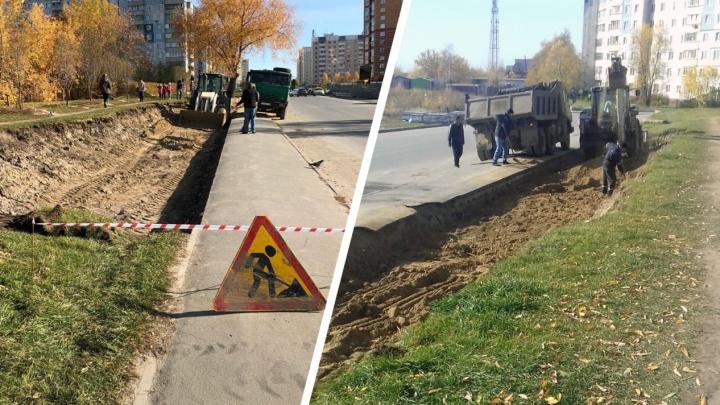 На Высоцкого второй раз подряд остановили строительство парковки: компания не получила разрешение