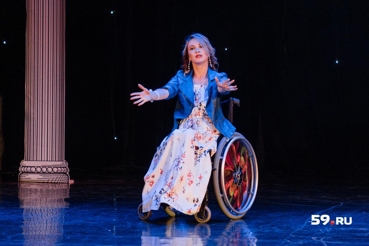 Ольга Посеева из Йошкар-Олы тоже занимается танцами на колясках