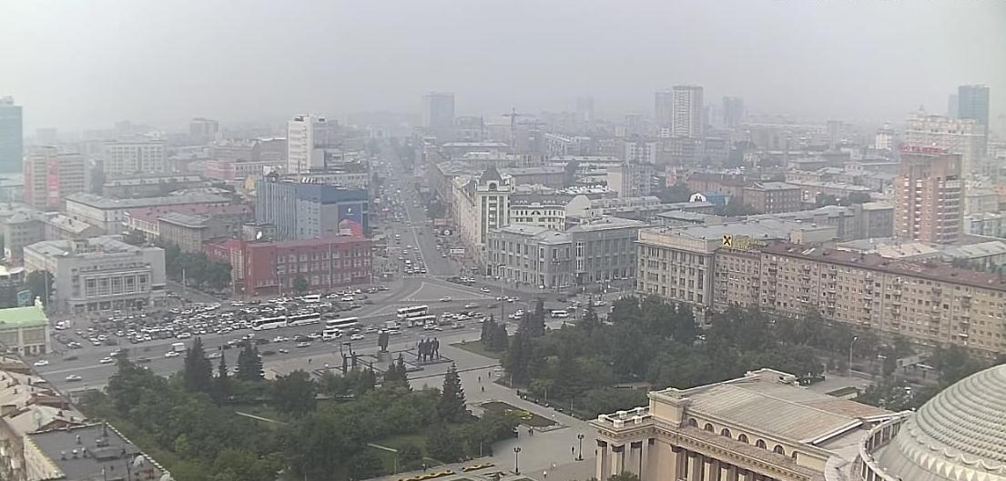 Вид на центр города в течение дня
