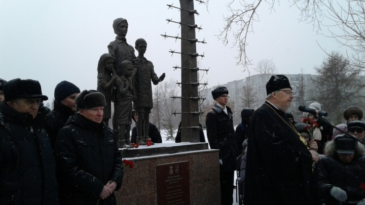Памятник детям-узникам концлагерей открыли в парке «Гвардейский»