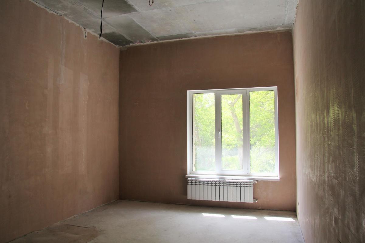 В апартаментах уже проведены подготовительные работы для первого ремонта