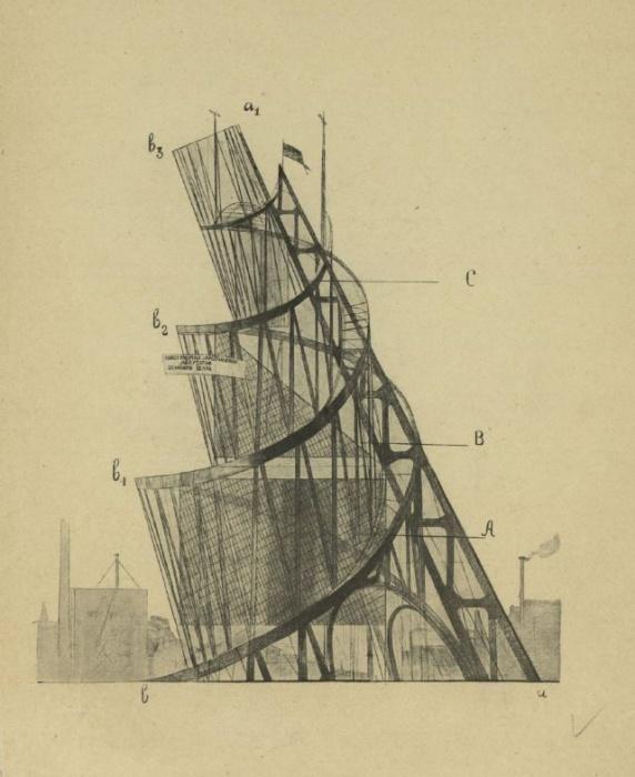 Проект «Памятника III Интернационала», более известного как «Башня Татлина»