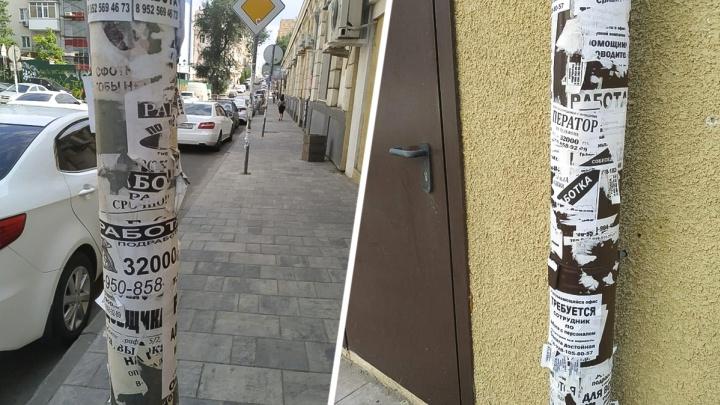 Чиновники решили защититься от уличных объявлений сеткой-рабицей