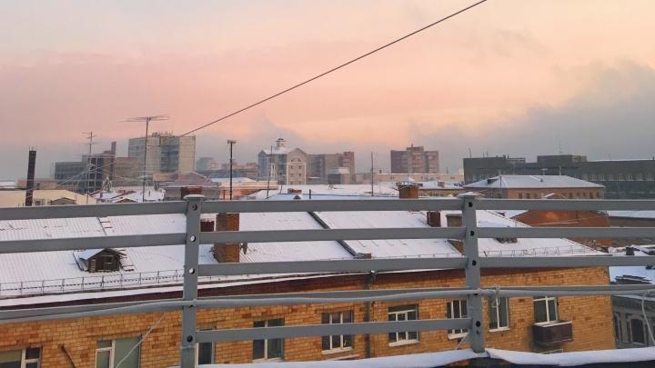 Красноярск накрыл розовый закат: любуемся красивыми снимками