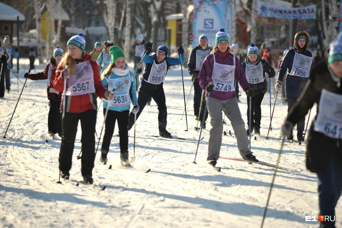 Лыжня — отличная, но трасса давалась с трудом: фоторепортаж с «Лыжни России» в парке Маяковского