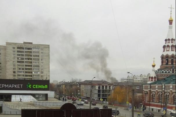 Пермяков напугал пожар в центре города. В МЧС рассказали, что произошло