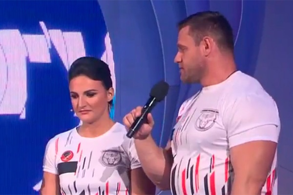 Леонид Якубович поднял омскую силачку всвоем новом телешоу
