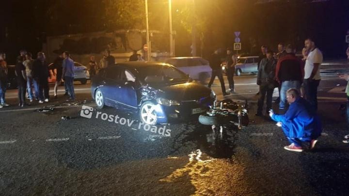 В Ростове в ДТП на Станиславского погиб мотоциклист