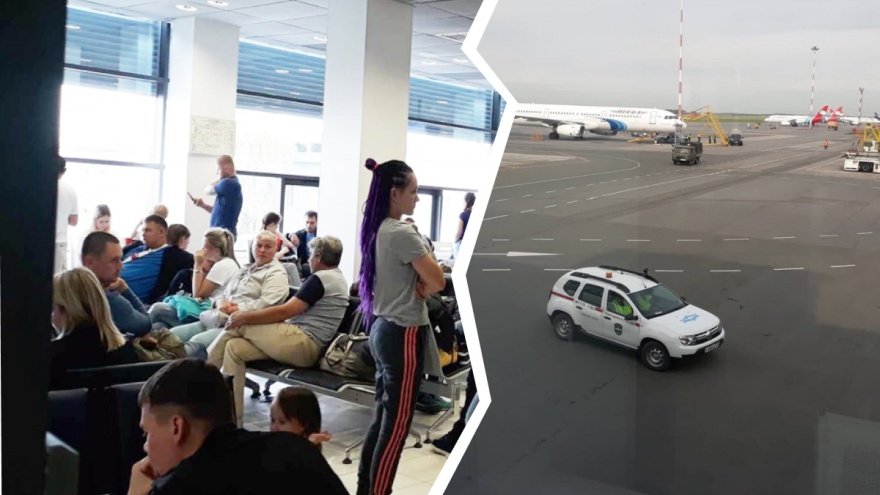 Толпы людей в Рощино. Тюменцы не могут улететь в Турцию из-за проблем с самолётом
