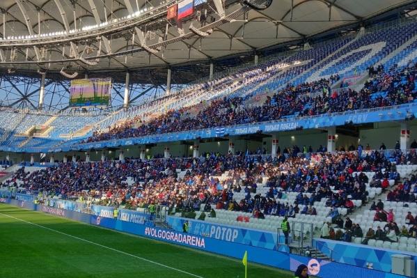 Несмотря на холода, болельщики не пропускают матчей на «Волгоград Арене»