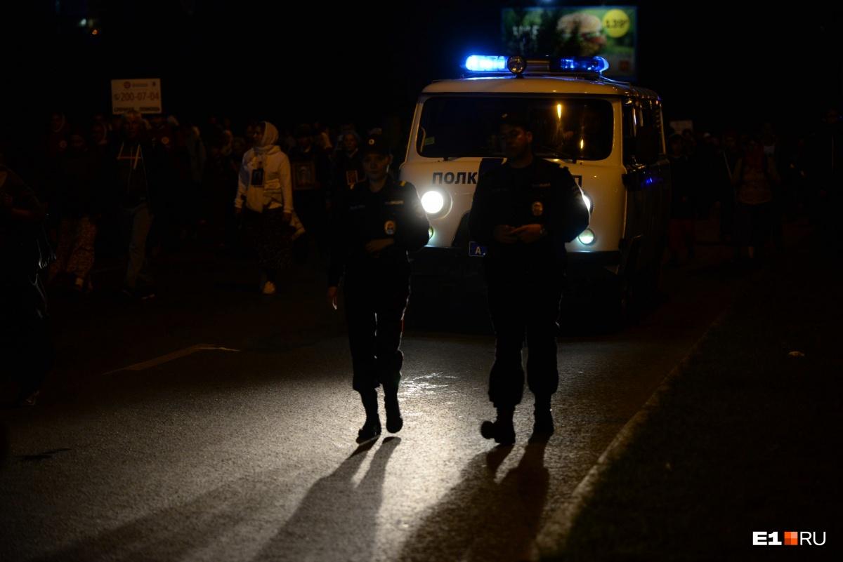 Паломников сопровождала полиция
