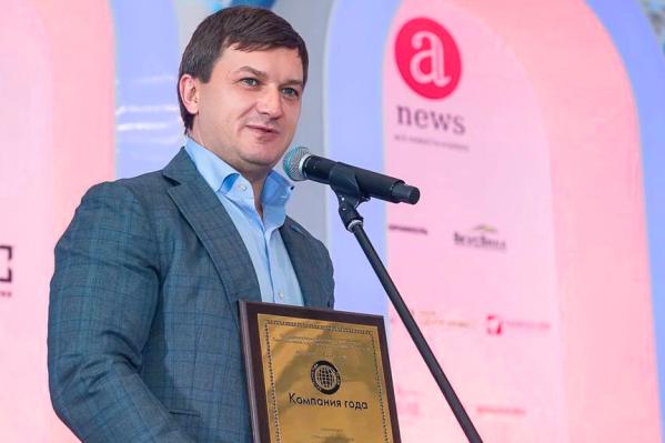 Генеральный директор ВСК Олег Овсяницкий поблагодарил за уже третью награду компании<br>