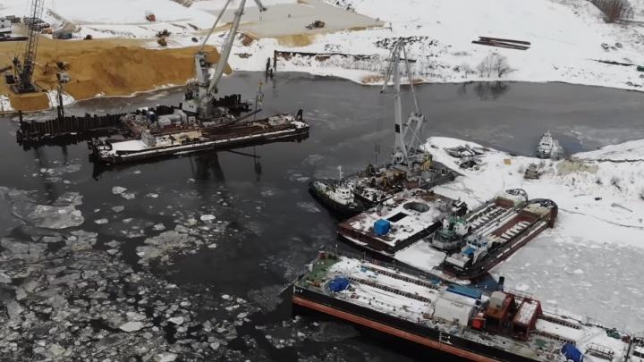 Первая пошла! В Самарской области начали бурить скважины для нового моста через Волгу