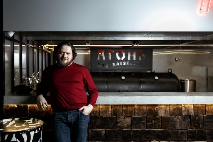 На прошлой неделе Кирилл Шлаен открыл «Агонь» на месте своего пивного заведения