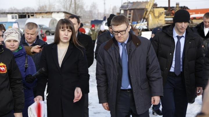 Хватило двух дней: Алексею Текслеру отчитались о тушении пожара на свалке в Челябинской области