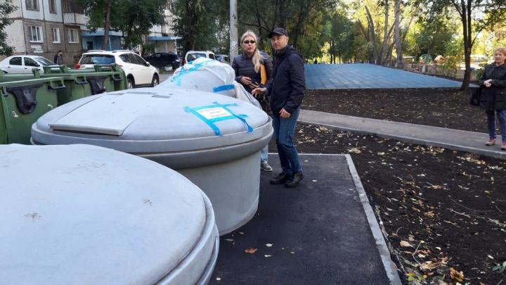 В Октябрьском районе установили заглубленные контейнеры для мусора